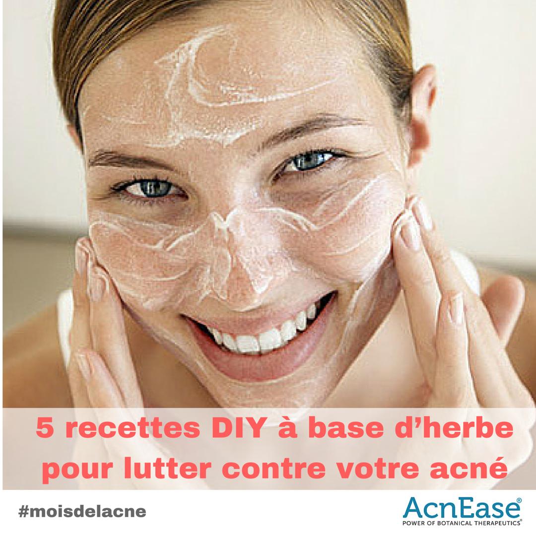 5 recettes diy base d herbe pour lutter contre votre acn acnease. Black Bedroom Furniture Sets. Home Design Ideas